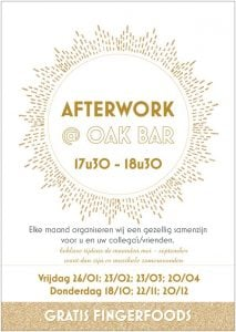 Afterwork @ the Oak bar